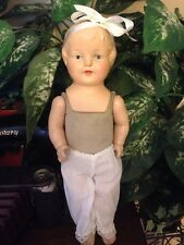 """Antique Vintage Composition 14"""" Doll Marked Fibroid Rare"""