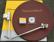 TechniSat Satman850Plus mit TechniSat Quatro-Switch-LNB (4Teilnehmer) ziegelrot