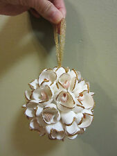 NEW STUNNING SEASHELL LARGE ORNAMENT CHRISTMAS TREE GOLD GLITTER