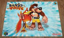 Banjo Tooie Nintendo & Pokemon very rare small Poster 30x42cm