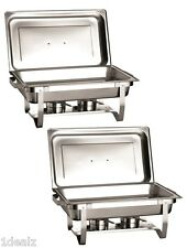 NEW STAINLESS STEEL CHAFER 2 PACK CHAFING Dish Sets FULL 8 QT $10 REBATE + Bonus