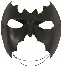 BLACK BATMAN EYE MASK DOMINO SHAPE SUPER HERO MASQUERADE FANCY DRESS ACCESSORIES