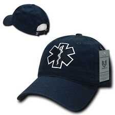 Emergency Medical Technician EMT Cross EMS Paramedic Polo Style Baseball Cap Hat