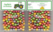 TRACTOR Green 10ct. Favor Goody Bags Birthday Kids Party Loot bags