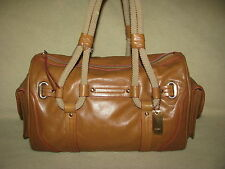 DKNY Medium Brown Leather Satchel Tote  Hobo Purse Dr's Bag