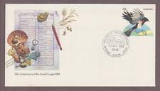 Australia PSE # 084 , Red Capped Robin Gould League FDC - I Combine S/H