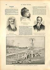 La Trocha Mariel-Majana Cuba Artemisa GRAVURE 1896