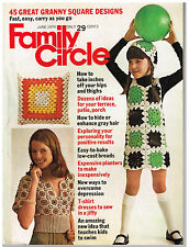 Vintage JUNE 1974 Family Circle Magazine, 45 Granny Square Projects, MORE