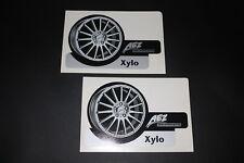 AEZ Felge XYLO Logo Zeichen Sticker Aufkleber Decal Kleber Autocollant Pickerl
