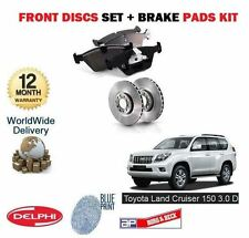Para Toyota Land Cruiser 150 3.0 Td D4d 2009 - > Front Disco De Freno Set + almohadillas Kit