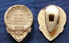 DISTINTIVO PNF OPERA NAZIONALE DOPOLAVORO CONGRESSO BOCCIOFILO MILANO 1929 DOR.