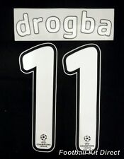 Chelsea Drogba 11 2007/08 Uefa Champions League Final Football Shirt Name Set