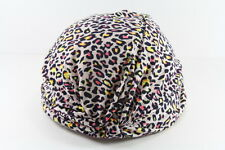 RETRO LADIES LEOPARD PRINT YELLOW/PINK ELEGANT TURBAN STYLE HAT (HT20)