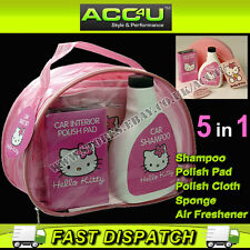 Hello Kitty Pink Car Care Cleaning Valet Gift Pack Set