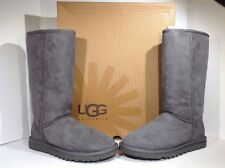 Ugg Women's Size 6 W Classic Tall Grey Suede Leather Winter Boots ZC-984