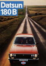 Prospekt Datsun 180 B PKW 1977 Autoprospekt Auto Broschüre brochure Japan