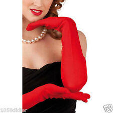 GANTS Longs Rouge 60cm Déguisement Femme Costume Charleston Halloween