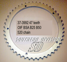 BSA b50 b25 47 teeth sprocket Conical 71-73 37-3992 w3992 520 CHAIN ingranaggio ruota
