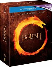 Hobbit Trilogy Blu Ray Box Set Part 1 2 3 Movie Film + Digital HD Ultraviolet