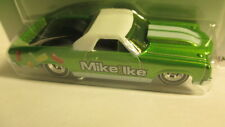 """Hot Wheels Nostalgia `71 CHEVY EL CAMINO """"Mike and Ike"""" green & white 1971 Elky"""