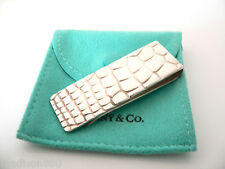 Tiffany & Co Silver Crocodile Croc Alligator Textured Money Clip Holder Rare