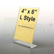 (12) 4x6 Acrylic Photo Frames, Picture Frames, Sign Holders, Slant Back style