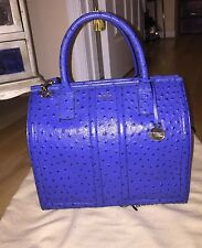 Brahmin Atelier Chatham Tote Bluebell Ostrich Embossed Leather