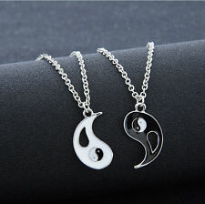 2pcs/Set Fashion Friendship Best Friends Yin Yang Pendant Necklace