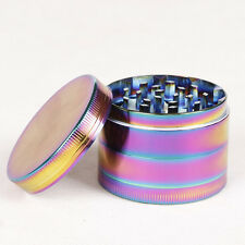 40mm Herb Rainbow Metal 4 Piece Tobacco Herb Spice Crusher Grinder *&