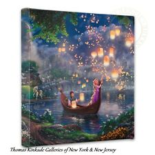 "RAPUNZEL Tangled Wrap - Thomas Kinkade Disney 14"" x 14"" Wrapped Canvas"