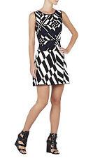"""BCBG MAXAZRIA """"JO"""" JACQUARD BODYCON  GEOMETRIC SWEATER DRESS NWT m $368.00"""