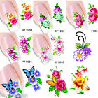 Nail Art Water Decals Wraps Transfers Flowers Manicure UV Tips Decoration