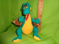 funny green DRAGON FROM ACME STUFFED ANIMAL toy doll