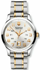 New Mens Victorinox Swiss Army 241324 Classic Alliance Swiss Made 2 tone Watch