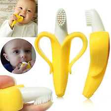 BABY BANANA Infants Soft Safe Teether Chewable Bendable Training Toothbrush,New