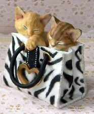 New In Box COUNTRY ARTISTS Cute WILD THINGS 2 Kittens In Tote Bag