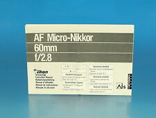 Nikon AF Micro-Nikkor 60mm f/2.8 Bedienungsanleitung instructions - (25912)