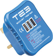 Knightsbridge Plug In Electric Socket Mains Tester & Non-Contact Voltage Tester