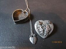 TORINO PEWTER JEWLRY SETS/4 PC/BEST FRIENDS/TRINKET BOX/EARRINGS/NECKLACE/PIN