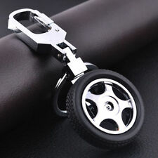 Details about  Mens Leather Car Keychain Creative 3D Tyre Alloy KeyRing Keyfob
