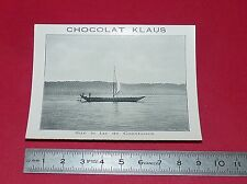 RARE 1900-1910 CHROMO PHOTO CHOCOLAT KLAUS BODENSEE LAC CONSTANCE
