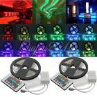 2x5M 10M 3528 SMD 600 LED RGB Licht Ketten Lichtleiste Stripe + 24 Fernbedienung