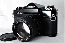 【Excellent+++】Canon F-1 Film Camera w/ New FD 85mm f/1.8 from JAPAN