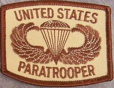 Embroidered Military Patch U S Army Paratrooper Airborne NEW desert
