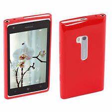 Genuine Nokia Silicon Case (CP-034N) For Lumia 900 - Red