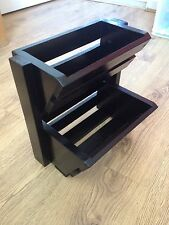 Heavy Duty Black Satin wooden Veg Vegetable & Fruit Rack Storage Holder