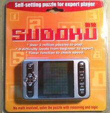 New SUDOKU Hand Held ELECTRONIC GAME 9 Difficulty Levels TIMER FUNCTION