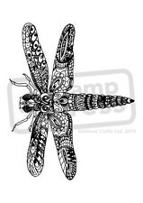 A7 'Patterned Dragonfly' Unmounted Rubber Stamp (SP003789)