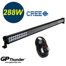 50 inch 6000K Off Road 288W CREE LED Fog Lamp Work Light Bar SUV Jeep 4WD Relay