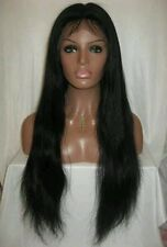 """20"""" Inch Virgin Brazilian Full Lace Wig Silk Top Long Sexy Natural High Quality"""